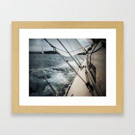 Yacht Race Framed Art Print