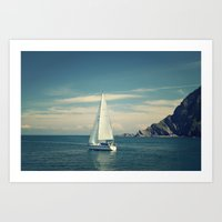 sailing Art Prints featuring Sailing by  Alexia Miles photography