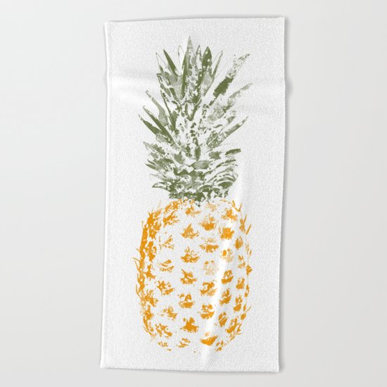 Pineapple I Beach Towel