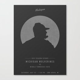 Michigan Wolverines Game Day Poster - Week 1 Canvas Print