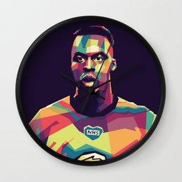 Edouard Mandy on WPAP Pop Art Portrait Wall Clock