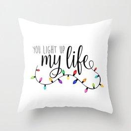You Light Up My Life - Christmas Lights Throw Pillow