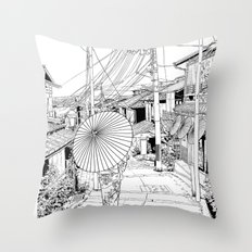Kyoto - the old city Throw Pillow