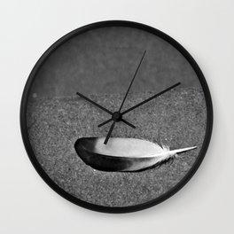 Fallen Feather Wall Clock