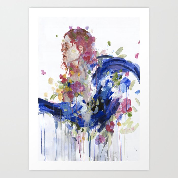 Discover the motif BOUQUET OF EMOTIONS by Agnes Cecile as a print at TOPPOSTER