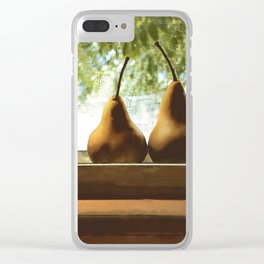 Summer Pear Ripening By Screened Window Clear iPhone Case