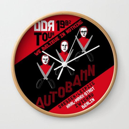 Autobahn--East German Tour 1982 Wall Clock