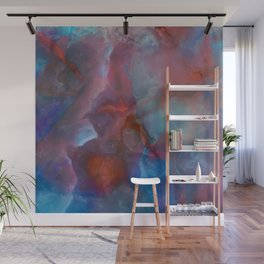 Colorful watercolor abstraction II Wall Mural