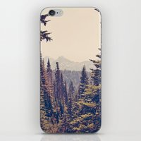 postcard iPhone & iPod Skins featuring Mountains through the Trees by Kurt Rahn