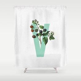 Letter 'V' Monogram Shower Curtain