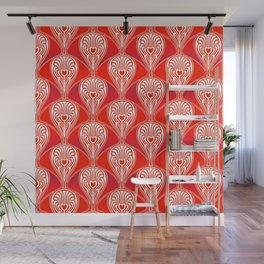 Art deco Christmas pattern. Wall Mural