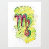 Virgo Flow Art Print