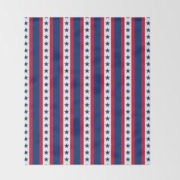 OK USA United States Flag Print Seamless Pattern Throw Blanket
