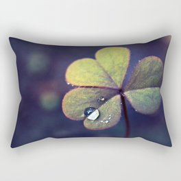 Clover Macro with Dew.Happy St Patrick's Day! Rectangular Pillow