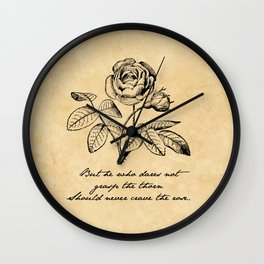 Anne Bronte - Crave the Rose Wall Clock
