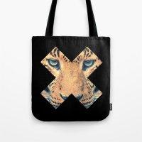 leopard Tote Bags featuring Leopard by Zavu