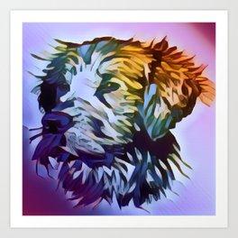 Abstract domestic dog art Art Print