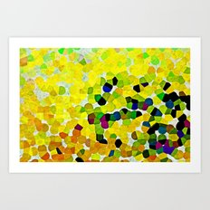 HARMONY IN LEMON Art Print