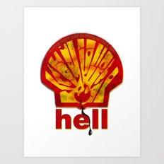Hell Oil Art Print