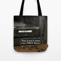 computer Tote Bags featuring ?!? Computer Bugs!?! by IowaShots