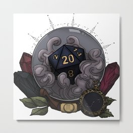 Scorpio D20 - Tabletop Gaming Dice - The Astrology Collection Metal Print
