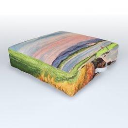 Pebble Beach Golf Course 7th Hole Outdoor Floor Cushion