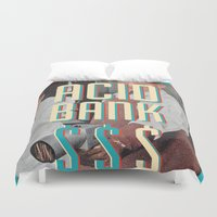 acid Duvet Covers featuring ACID BANK by WeLoveHumans