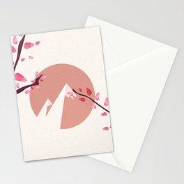 Mount Fuji Japan Sakura Tree Cherry Blossom Stationery Cards