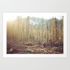 Forest Run Art Print
