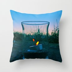 Seaside flame Throw Pillow