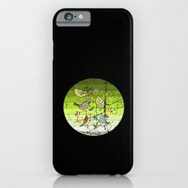 Cute Garden Birds Retro iPhone Case