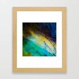 Water and paint texture 1 Framed Art Print