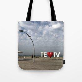 Tel Aviv Port Photography - TE(love)IV Sign Tote Bag
