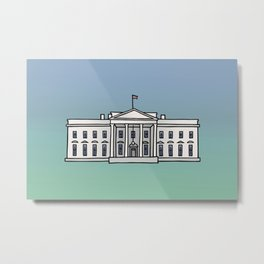 The White House in Washington, D.C. Metal Print