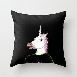 Unicorn Head Throw Pillow