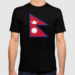 flag of nepal-nepal,buddhism,Nepali, Nepalese,india,asia,Kathmandu,Pokhara,tibet T-shirt