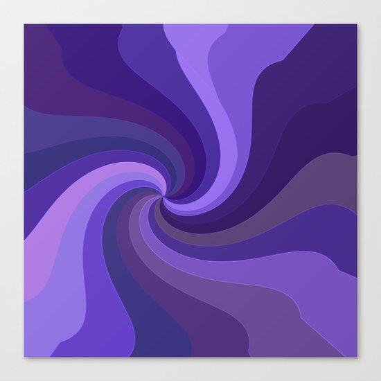 Purple Twirl One Canvas Print