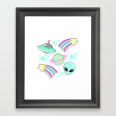 In Space You're Adorable Framed Art Print