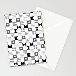 Pattern Pandemonium-Black Stationery Cards