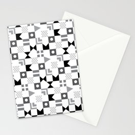 Pattern Pandemonium-Black Stationery Cards