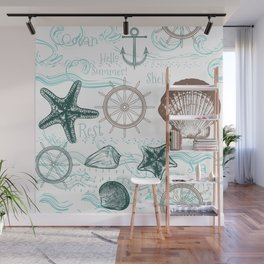 Sea shells love Wall Mural