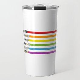 Lightsaber Rainbow Travel Mug