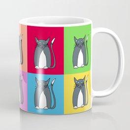 Odd Kitty Out - Tabby Cat Pattern Coffee Mug