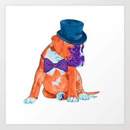 Sir Boxer Art Print