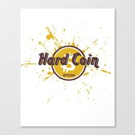 Hard Coin Bitcoin Canvas Print
