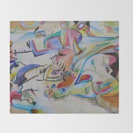 inspiration from Kandinsky . illustration . Throw Blanket