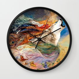 The spirit Wolf Abstract Wall Clock