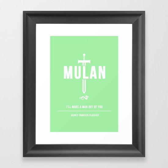 Disney Princesses: Mulan Minimalist Framed Art Print