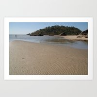 monkey island Art Prints featuring Walking Towards Monkey Island Palolem by Serenity Photography