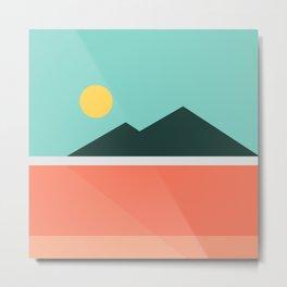 Geometric Landscape 16 Metal Print